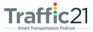 Logo for the Traffic21 Smart Transportation Podcast