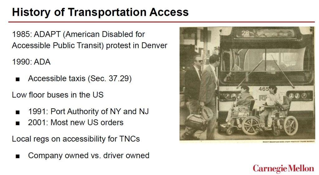 Image of Slide on Transportation Access