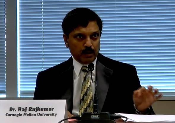 Raj Rajkumar Testifying at PA State Transportation Committee Hearing