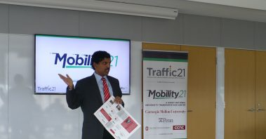 Raj Rajkumar Mobility21 UTC Director, provided an overview of the university transportation center and institute.
