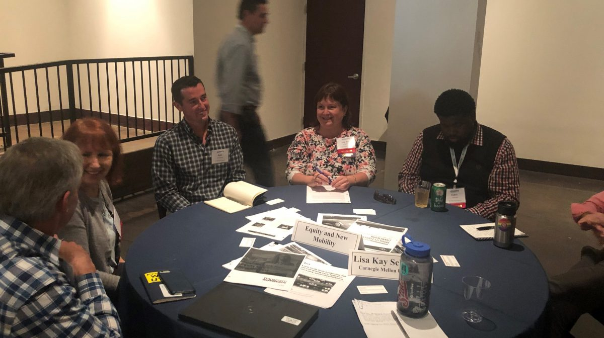 Schweyer leading discussion group at ACT Emerging Mobility Summit