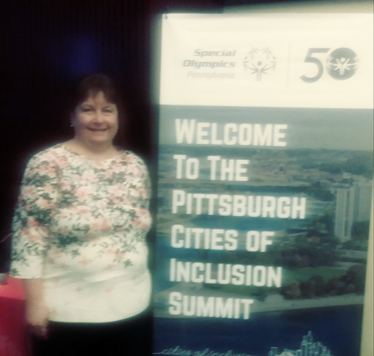 Photo of Lisa Kay Schweyer at the Pittsburgh Cities of Inclusion Summit