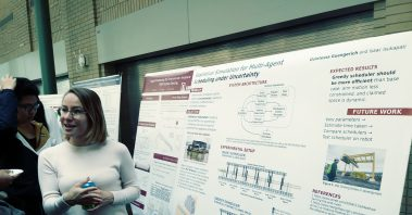 Photo of Tessa with Her Project Poster