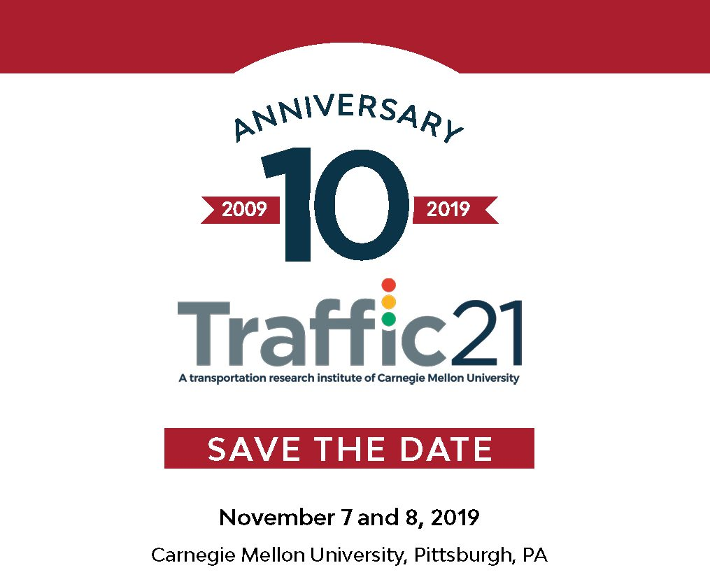 Traffic21 Anniversary Save the Date Logo