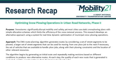 Research Recap - Optimizing Snow Plowing Operations in Urban Road Networks, Phase II