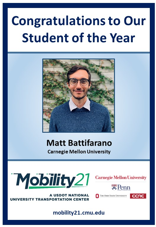 Matt Battifarano Student of the Year