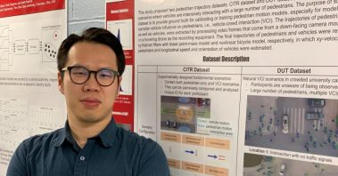 Photo: Graduate student, Dongfang Yang says the new dataset can benefit the design of more realistic simulation models for vehicle-pedestrian interaction and can also be used to improve the accuracy of pedestrian behavior prediction in autonomous driving.