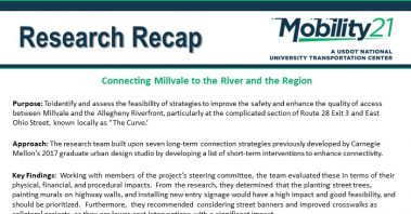 Research Recap: Connecting Millvale to the River and the Region