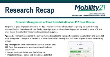 Research Recap - Dynamic Management of Food Redistribution for 412 Food Rescue 183