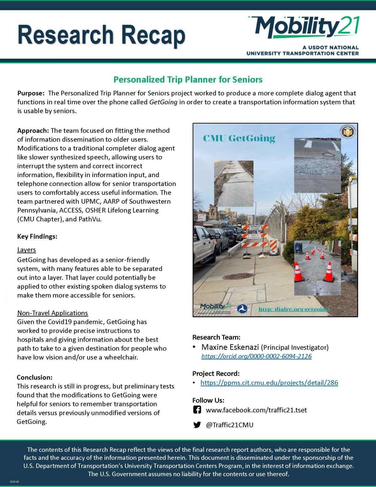 Image of the Research Recap - Personalized Trip Planner for Seniors