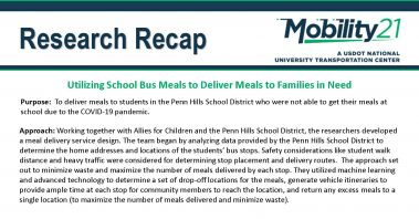 Utilizing School Bus Meals to Deliver Meals to Families in Need