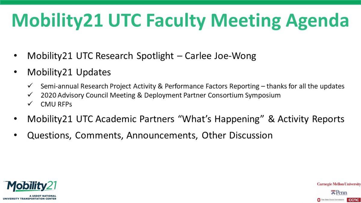Nov UTC Faculty Meeting