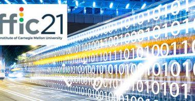 Traffic21 Logo and data stream image