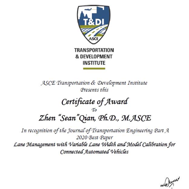 Sean Qian Certificate