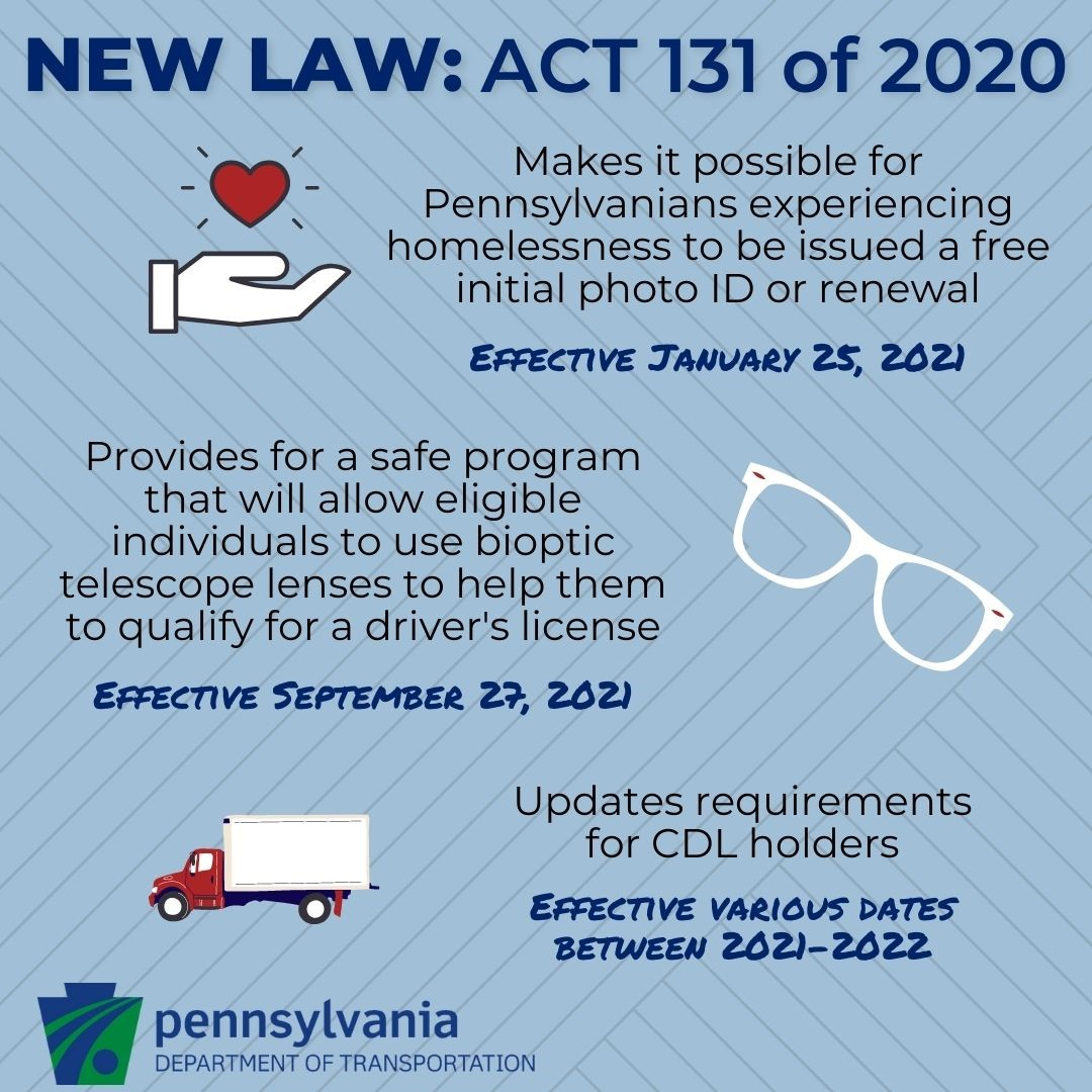 Graphic of PennDOTs new Law - ACT 131