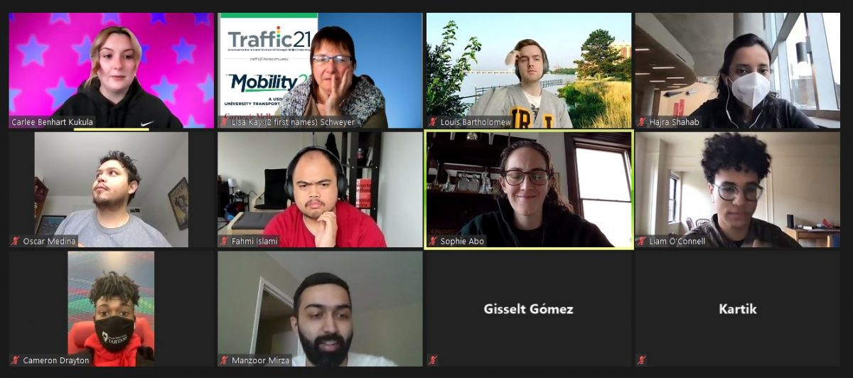 Screenshot from Transportation Club Meeting