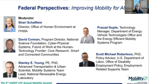 2021 National Mobility Summit - Federal Perspectives - Shari Schaftlein