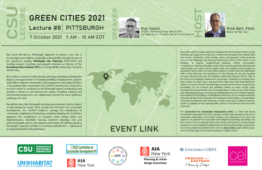 Ray Gastil Green Cities Pittsburgh